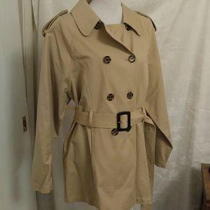 NWY Classic khaki belted trench coat, sz XL